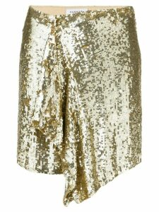 P.A.R.O.S.H. gold disco skirt