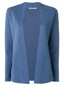Agnona collarless knitted blazer - Blue