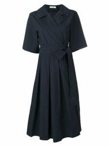 Pringle Of Scotland Pleated Tennis Dress In Deep Indigo - Blue