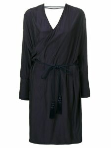 LANVIN wrap midi dress - Blue