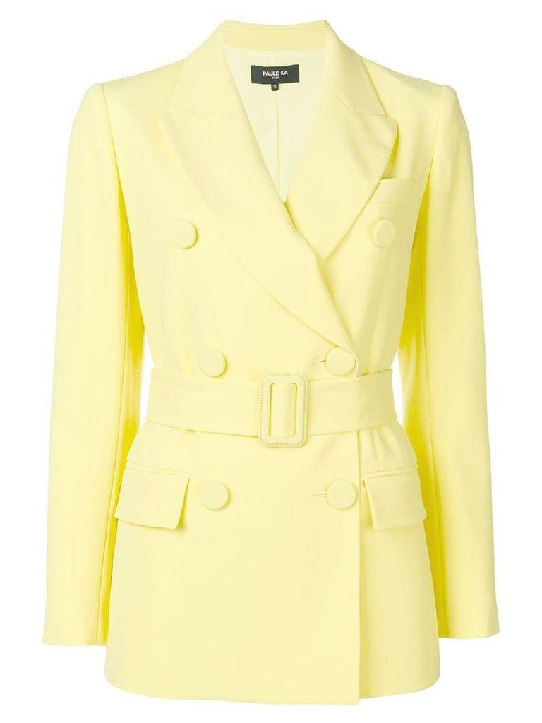 Paule Ka classic belted blazer - Yellow