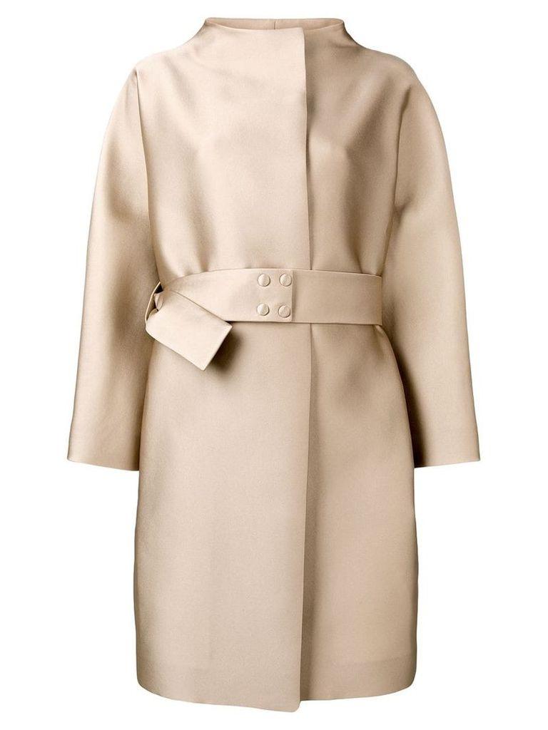 Paule Ka belted midi coat - Brown
