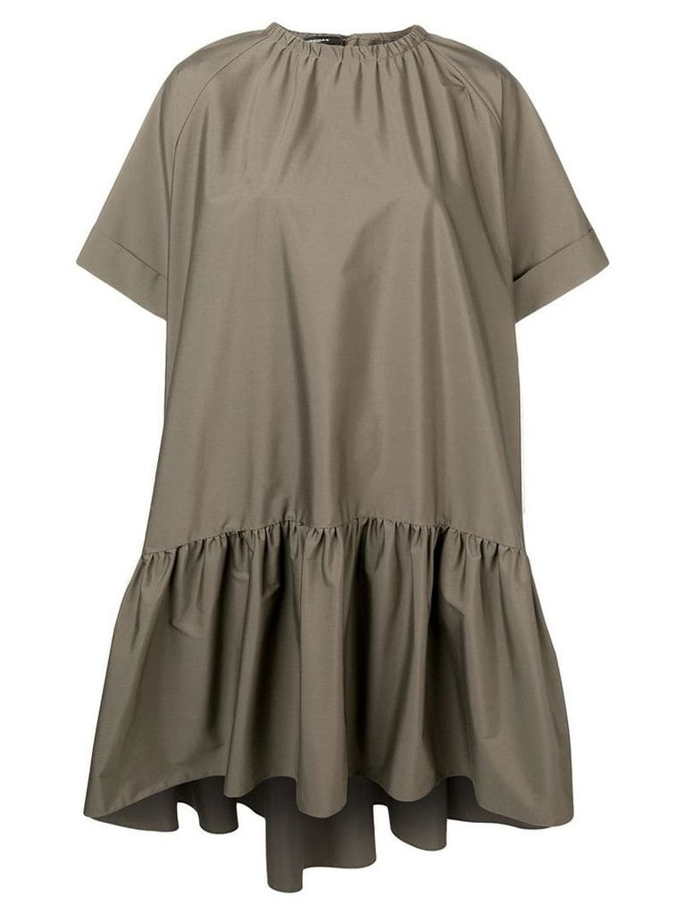 Rochas short sleeved ruched dress - Green