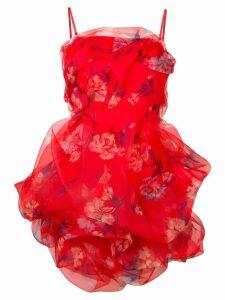 Ermanno Scervino mini ruffle floral dress - Red