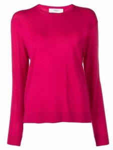 Pringle Of Scotland Merino Jumper In Magenta - Pink