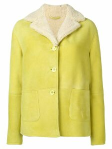 Ermanno Scervino single breasted shearling jacket - Green