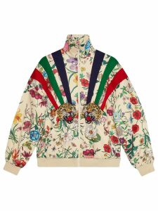 Gucci Technical jersey jacket with patches - Neutrals