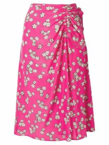 P.A.R.O.S.H. floral print skirt - Pink
