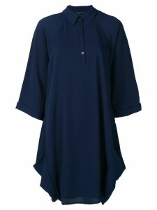 Armani Exchange oversized polo dress - Blue