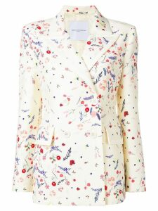 Ermanno Scervino floral double breasted blazer - Neutrals