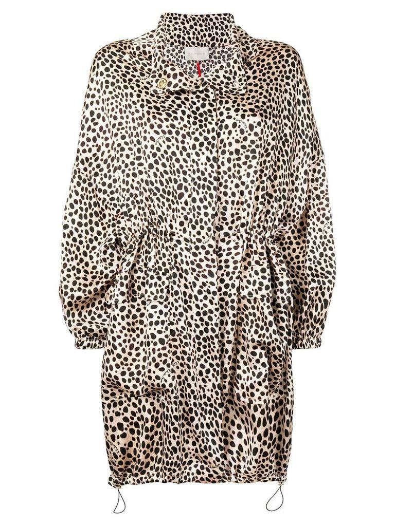 L'Autre Chose leopard print coat - Neutrals