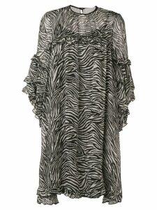 L'Autre Chose ruched sleeve dress - Black