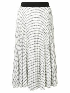 Karl Lagerfeld pleated logo skirt - White