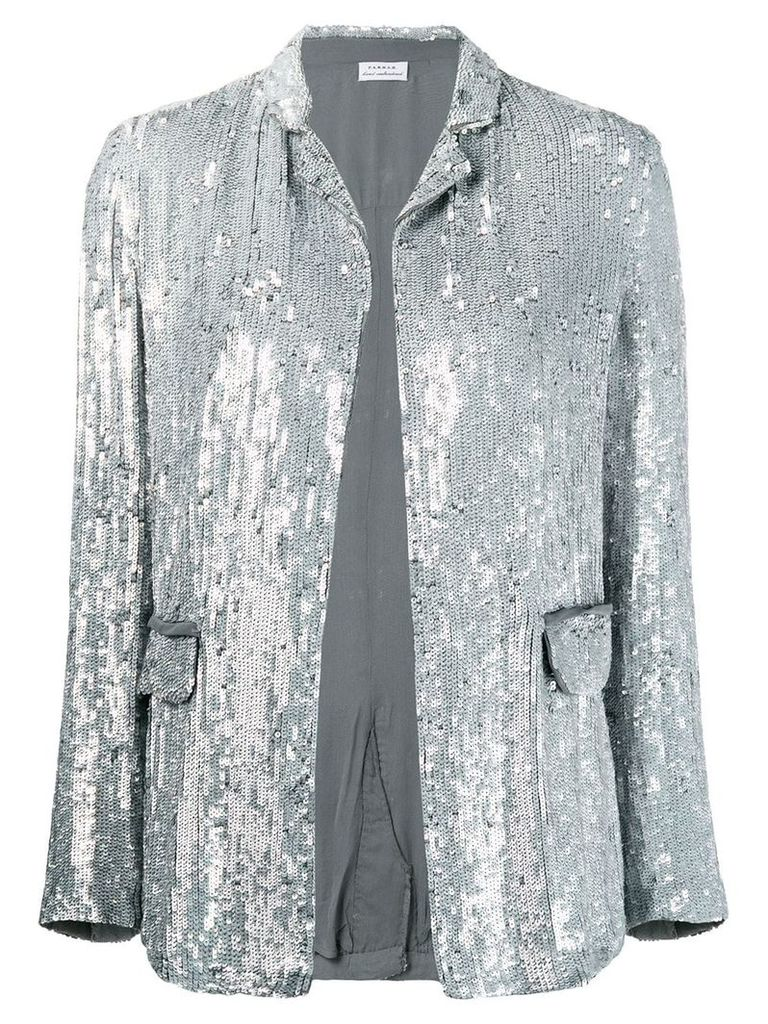 P.A.R.O.S.H. sequin blazer - Silver