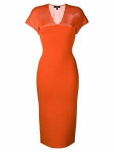 Theory sheer top midi dress - Orange