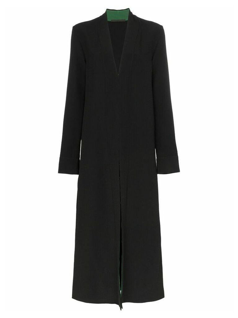 Haider Ackermann Contrast lining collarless coat - Black