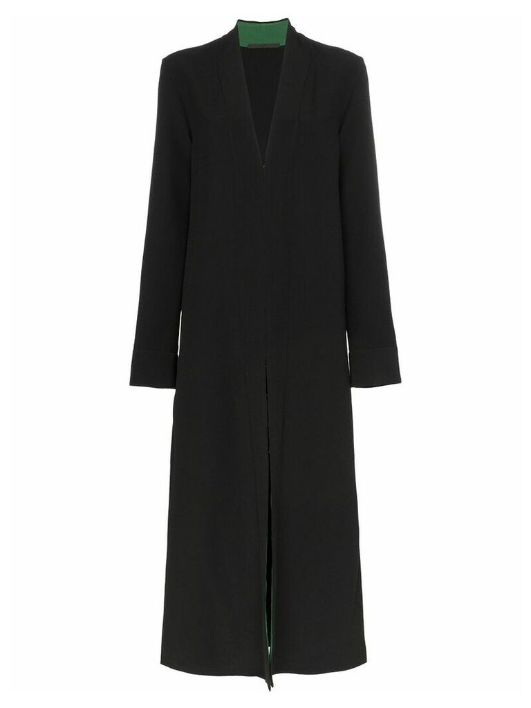 Haider Ackermann Contrast lining collarless coat - Black