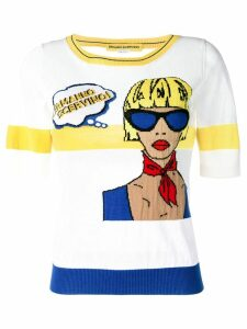 Ermanno Scervino knitted pop art top - White
