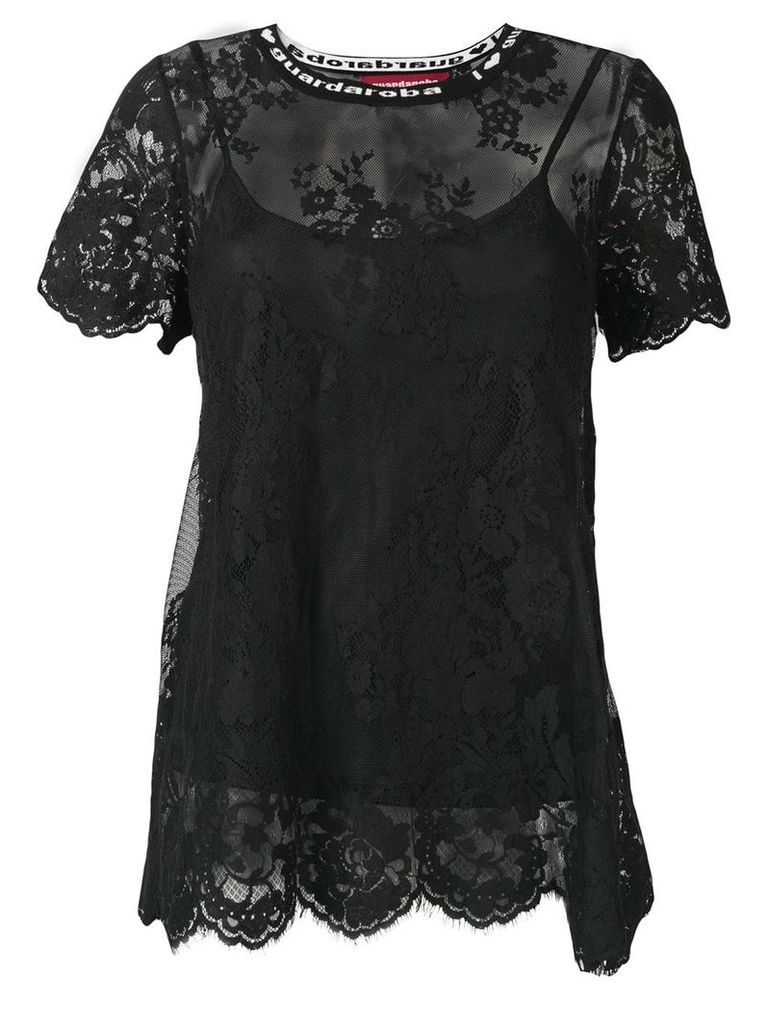 Guardaroba lace T-shirt - Black