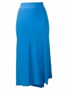Pringle Of Scotland Asymmetric Wrap Skirt - Blue