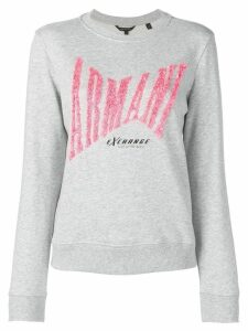 Armani Exchange sequin logo sweatshirt - Grey