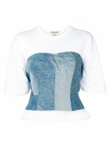 Junya Watanabe corset t-shirt - White
