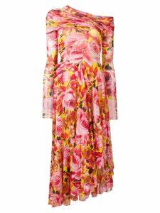 MSGM floral print asymmetric dress - Pink