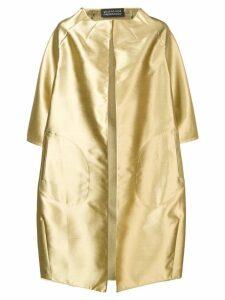 Gianluca Capannolo metallic coat - Gold