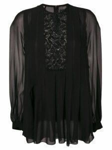 Giambattista Valli lace detail blouse - Black