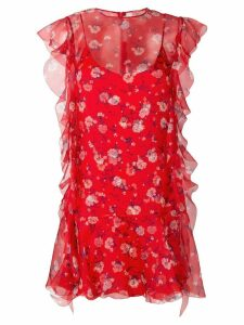 Ermanno Scervino floral print mini dress - Red
