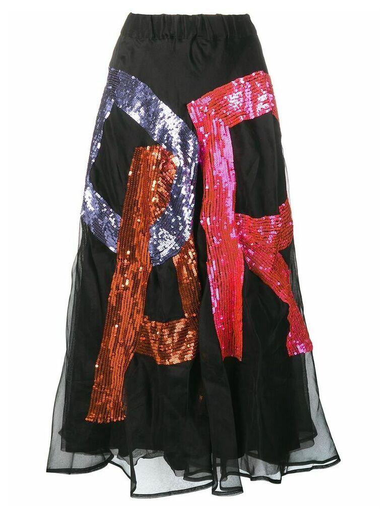 P.A.R.O.S.H. Fantasia sequin skirt - Black