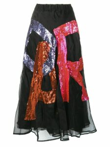 P.A.R.O.S.H. Fantasia sequin skirt - Black