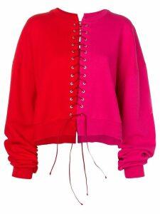 Unravel Project colour block sweatshirt - Pink
