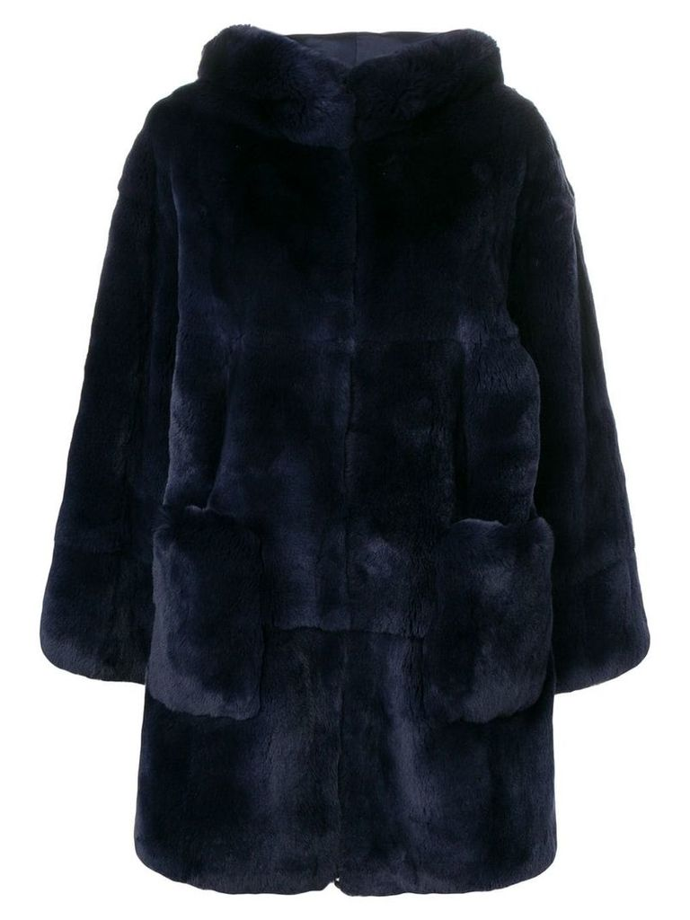 Liska oversized Pallas coat - Blue