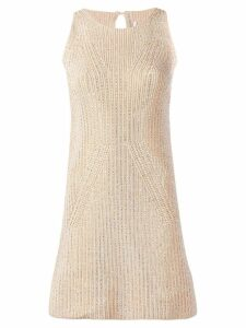 Ermanno Scervino knitted mini dress - Neutrals