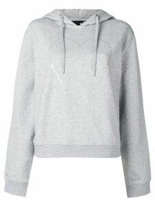 Love Moschino logo heart print hoodie - Grey