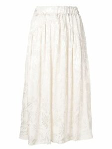 Guardaroba tone-on-tone skirt - White