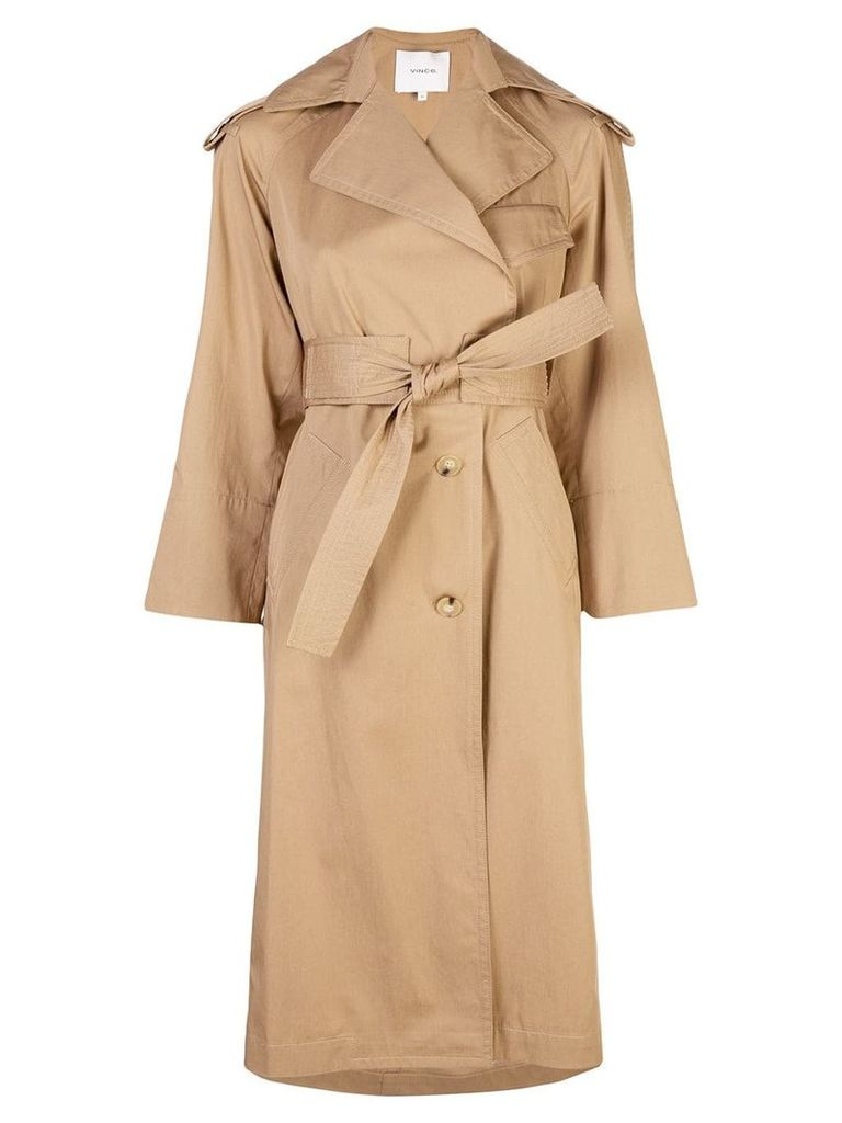 Vince belted trench coat - Neutrals