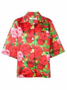 Richard Quinn rose printed shirt - Red