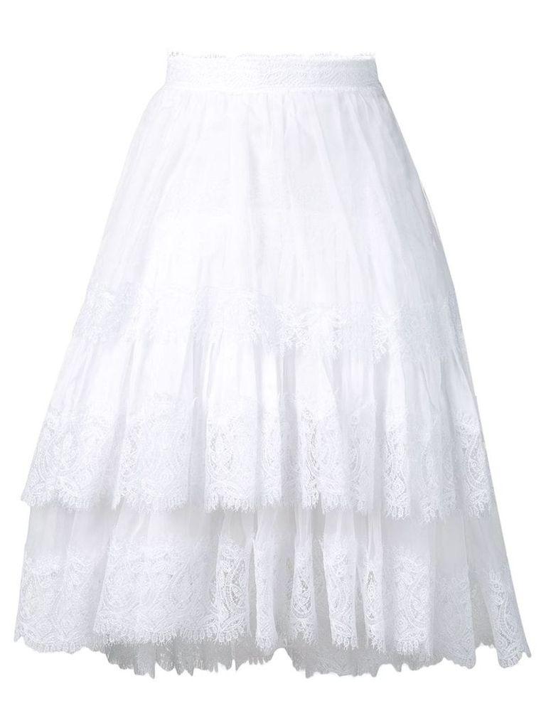 Ermanno Scervino short ruffled skirt - White