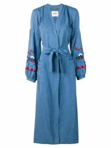Bazar Deluxe belted denim shirt dress - Blue