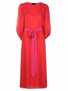 Cynthia Rowley U neck midi dress - Red