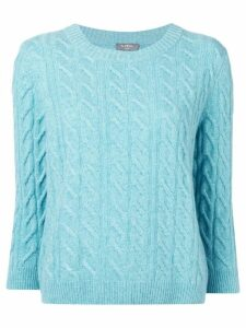 N.Peal cable-knit cashmere jumper - Blue