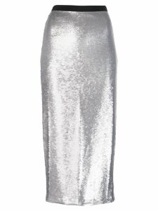 Cinq A Sept sequin Paula skirt - Silver