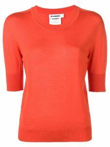 Jil Sander shortsleeved knit jumper - Orange