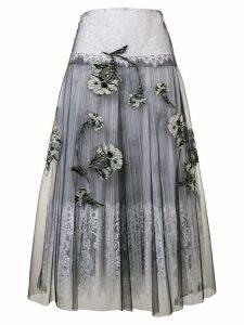Ermanno Scervino floral tulle skirt - Grey