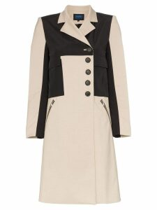 Charm's Division utility pocket single-breasted coat - Neutrals