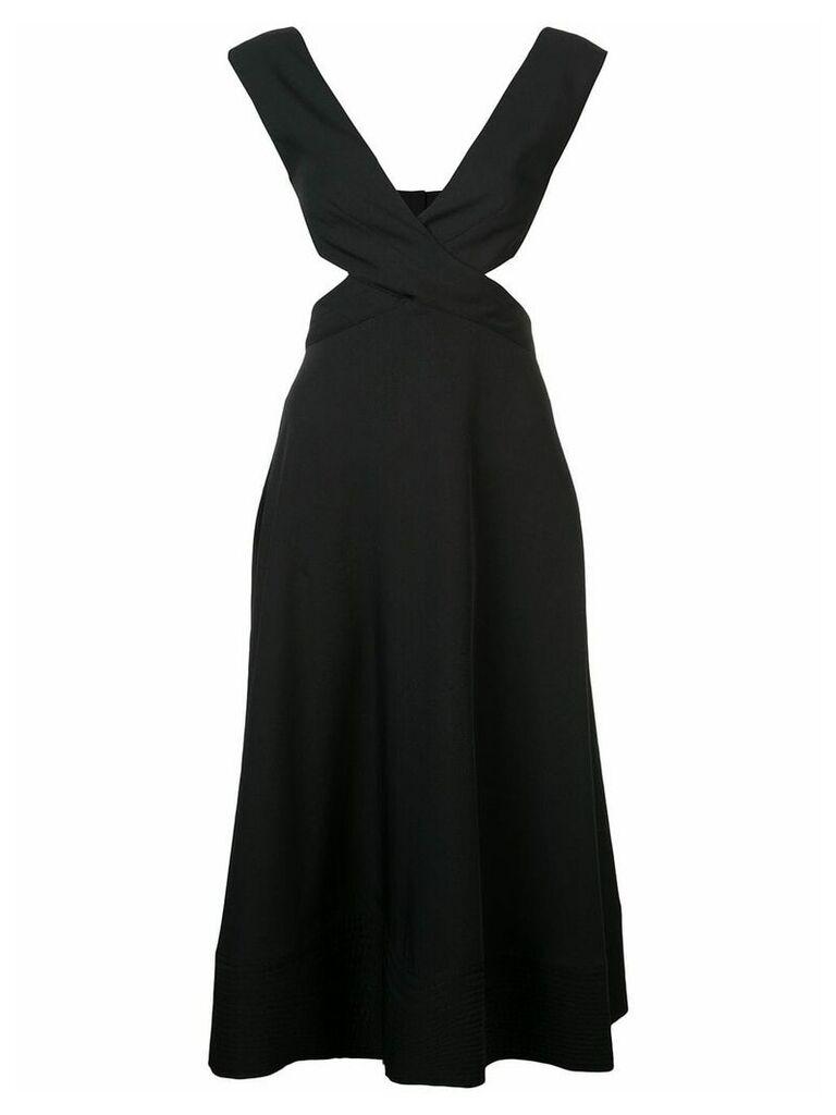 Proenza Schouler Crêpe Crossover Dress - Black