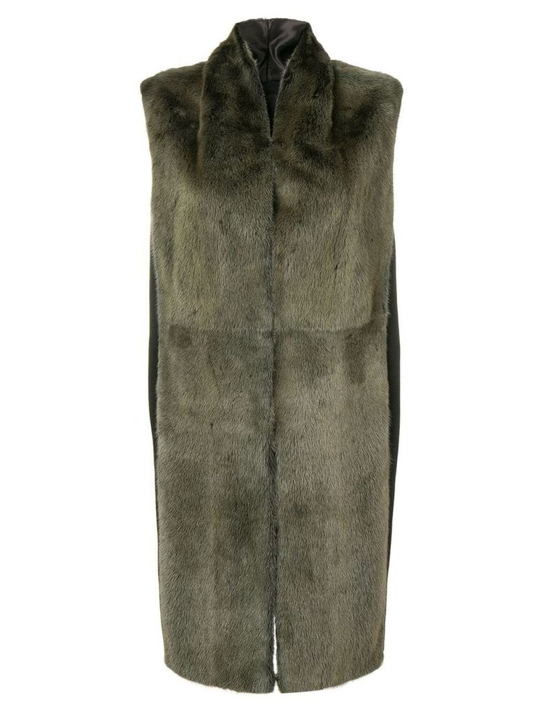 Liska shawl sleeveless coat - Green