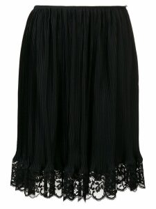 Paco Rabanne lace trimmed straight skirt - Black